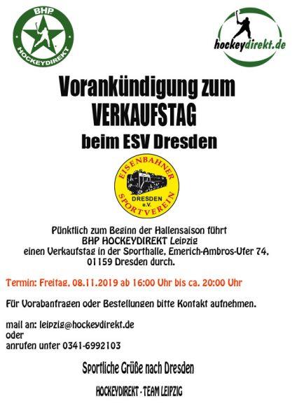 HockeyVerkaufstag von BHP Hockeydirekt aus Leipzig @ ESV Dresden