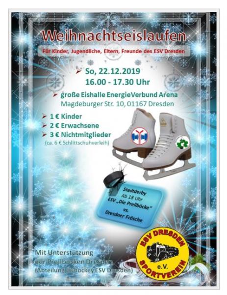 ESV-Wintereislaufen @ Große Eishalle der EnergieVerbund Arena